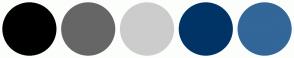 Color Scheme with #000000 #666666 #CCCCCC #003366 #336699