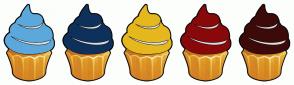 Color Scheme with #5CA8DC #0E315C #E4B81E #89090B #3D0A0A