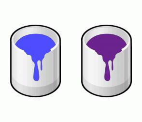 Color Scheme with #4D4DFF #6B238E