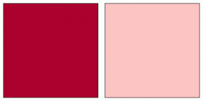 Color Scheme with #AC002E #FDC4C4
