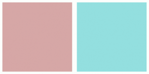 Color Scheme with #D6A7A6 #93DFDF