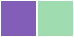 Color Scheme with #835EB8 #A0DDB0