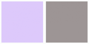 Color Scheme with #DDC9FB #9D9595