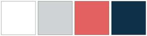 Color Scheme with #FFFFFF #CFD3D6 #E36161 #0E3149