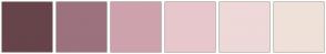 Color Scheme with #674449 #9C727F #CDA2AD #E8C7CC #EED8D8 #EFE1D9