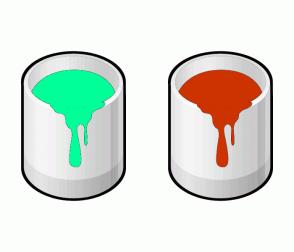 Color Scheme with #00FF99 #CC3300