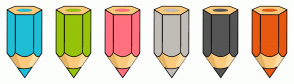 Color Scheme with #1FBED6 #97C30A #FF717E #C0BCB6 #555555 #E75911
