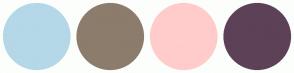 Color Scheme with #B4D8E7 #8C7C6C #FFCCCB #5D4157