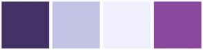 Color Scheme with #443266 #C3C3E5 #F1F0FF #8C489F