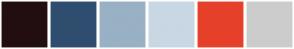 Color Scheme with #220E10 #2F4E6F #98B1C4 #C8D7E3 #E6402A #CCCCCC
