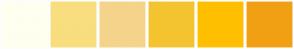 Color Scheme with #FFFFF0 #F8DE7E #F4D48B #F4C430 #FFBF00 #F1A013