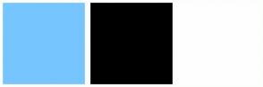 Color Scheme with #77C5FF #000000 #FFFEFE
