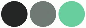 Color Scheme with #232624 #6F7A74 #69CE9D