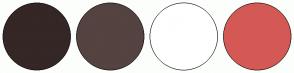 Color Scheme with #342725 #544340 #FFFFFF #D45955