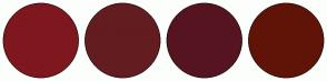 Color Scheme with #7F171F #631D20 #561420 #601407