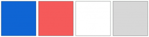 Color Scheme with #0F65D4 #F55A5A #FFFFFF #D7D7D7