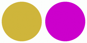 Color Scheme with #CFB53B #CC00CC