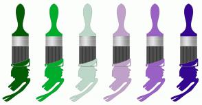 Color Scheme with #055C07 #00AC2C #BCD7C7 #C0A1C9 #9962C4 #35078F