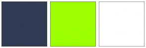 Color Scheme with #313C53 #9CFF00 #FFFFFF