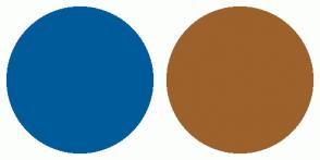Color Scheme with #005B9A #9D612B