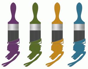 Color Scheme with #663769 #586B29 #C2871D #31738F