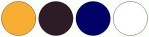 Color Scheme with #F8AE33 #2D1C26 #000066 #FFFFFF