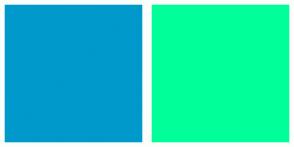 Color Scheme with #0099CC #00FF99