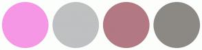 Color Scheme with #F597E5 #BFC0C1 #B27983 #8C8984