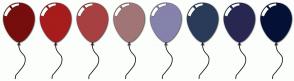 Color Scheme with #760E0E #A71C1C #A74040 #A17575 #8582AC #293B58 #272752 #051036