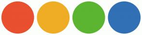 Color Scheme with #E8502F #EFAD25 #5BB531 #3170B5