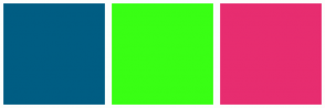 Color Scheme with #005D83 #39FF14 #E72D70