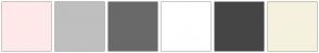 Color Scheme with #FFE9E8 #BFBFBF #696969 #FFFFFF #454545 #F5F1DE