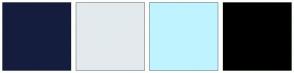 Color Scheme with #151D3E #E3EAEE #BFF4FF #000000