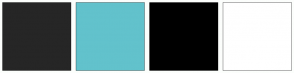 Color Scheme with #262626 #62C2CC #000000 #FFFFFF