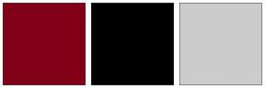 Color Scheme with #810018 #000000 #CCCCCC
