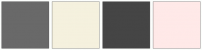 Color Scheme with #696969 #F5F1DE #454545 #FFE9E8