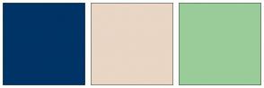 Color Scheme with #003366 #E9D6C5 #99CC99