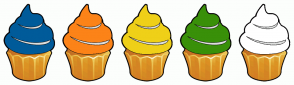 Color Scheme with #005B9A #FC8318 #EFD018 #399009 #FFFFFF