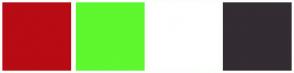 Color Scheme with #B80B14 #5FF72D #FFFFFF #332C33