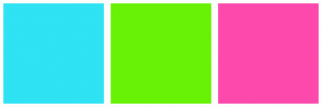 Color Scheme with #2FE3F4 #68F205 #FD49AC