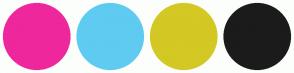 Color Scheme with #EE279C #5FCBF1 #D4C824 #1B1B1B