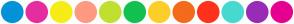 Color Scheme with #0392D6 #E52D9F #F6EC18 #FF9982 #C1DF2F #14C050 #FDCE2A #F46B1B #FF321D #47D9CE #982CB6 #E70091