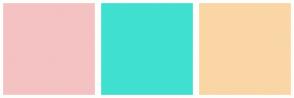 Color Scheme with #F4C2C2 #40E0D0 #FAD6A5