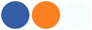 Color Scheme with #345DA6 #FF8021 #F7FCFD