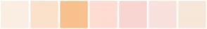 Color Scheme with #FBEEE2 #FBE1CA #F9C18D #FEDCD2 #F9D6D1 #F9E1DE #F7E7D9