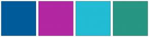 Color Scheme with #005B9A #B227A2 #22BCD4 #279682