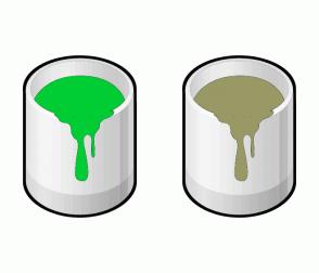 Color Scheme with #00CC33 #999966