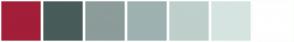 Color Scheme with #A31E39 #485C5A #8C9C9A #9DB2B1 #BFCFCC #D6E4E1 #FFFFFF