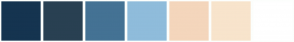 Color Scheme with #153450 #294052 #447294 #8FBCDB #F4D6BC #F8E4CC #FFFFFF