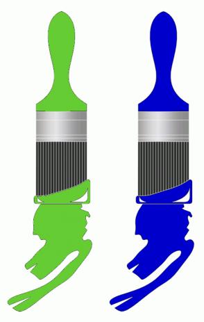 Color Scheme with #66CC33 #0000CC